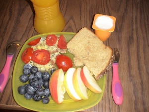 Toddler breakfast